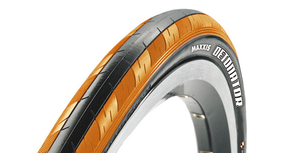 Cubierta carretera Maxxis Detonator 700x23C naranja/negro klevar